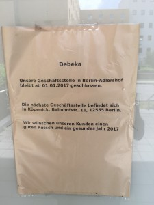 Debeka Büro Berlin Adlershof, geschlossen seit 2017